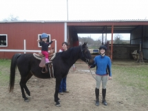 Abby (age 3) riding Blackie