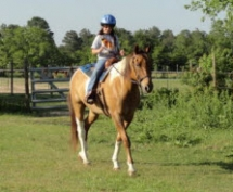 Mira riding lesson on Big Chief