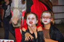 Our Vampire horse (Splash) with Kae and Kass