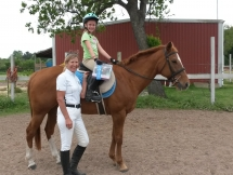 Dressage Clinic at RandM.  Sami on MissyD