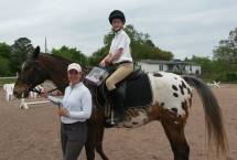 Emma on Kasey at Dressage Clinic