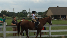 Ashlyn in her first competition, riding Splash in the Walk Class.