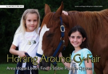 Splash and two of our young riders in the magazine article